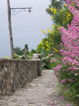 Castle Walkway of 15th Century Castello Aragonese, Ischia, Campania, Italy