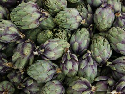 Artichokes, Produce Market, Ortygia Island, Syracuse, Sicily, Italy