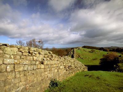 2nd Century Roman Wall, Hadrian's Wall, Northumberland, England