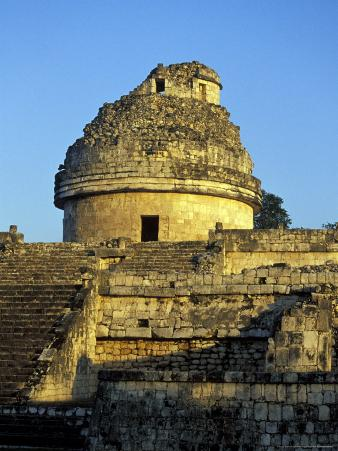 Caracol Astronomical Observatory, Chichen Itza Ruins, Maya Civilization, Yucatan, Mexico