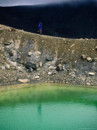 Volcanic Crater at Emerald Lakes, Tongariro National Park, Waikato, New Zealand