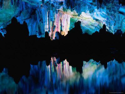 Inside the Lu Di (Reed Flute) Caves, Guilin, Guangxi, China