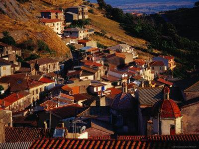 Rooftops of Santu Lussurgiu, Italy
