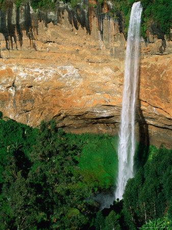 Sipi Falls on Slopes of Mount Elgon, Mt. Elgon National Park, Uganda