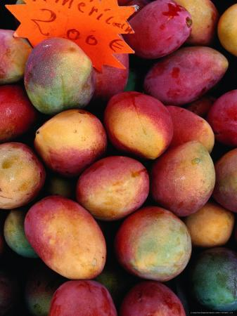 Mangoes for Sale on Roadside Stall, Reunion