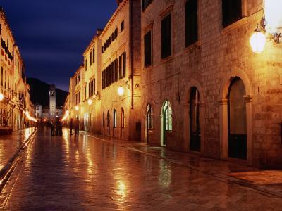 Placa at Twilight, Dubrovnik, Croatia