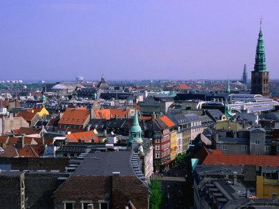Downtown Cityscape, Copenhagen, Denmark