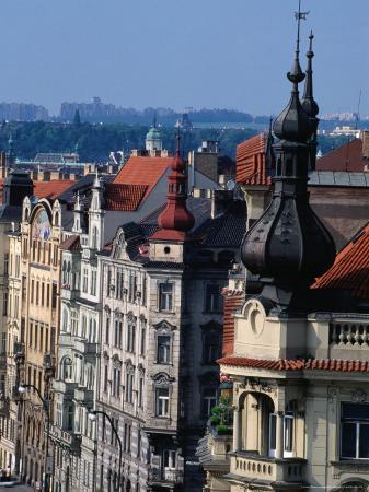 Buildings along Masarykovo Embankment, Prague, Czech Republic