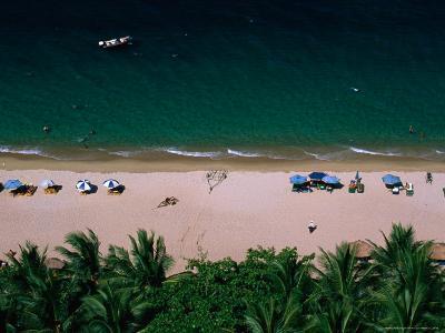 Sunbathers on Beach, Nha Trang, Vietnam