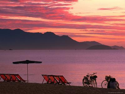 Sunrise Over Nha Trang Beach, Nha Trang, Khanh Hoa, Vietnam