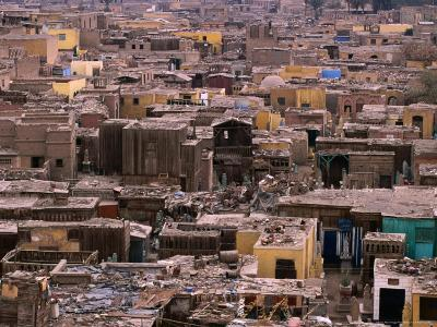 Bab An-Nasr Cemetery with Houses Scattered Amongst the Graves, Cairo, Egypt