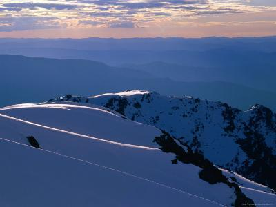 Ridges from Mt. Carruthers in Winter, Kosciuszko National Park, New South Wales, Australia