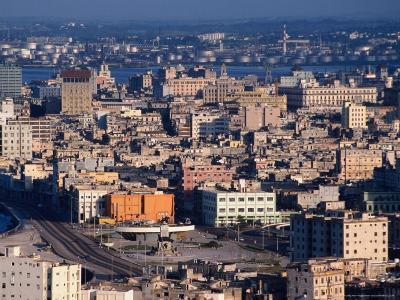 High Angle View Over City's Old Quarter, Havana, Cuba