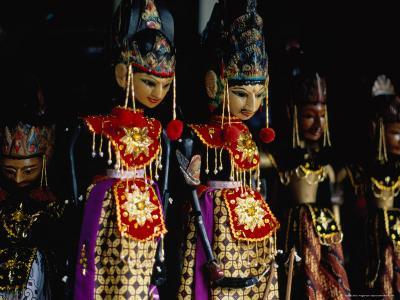 Wayang Golek Puppets for Sale at Jalan Surabaya Antique Market, Jakarta, Indonesia
