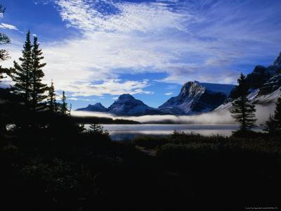 Mist Over Bow Lake, Banff, Canada