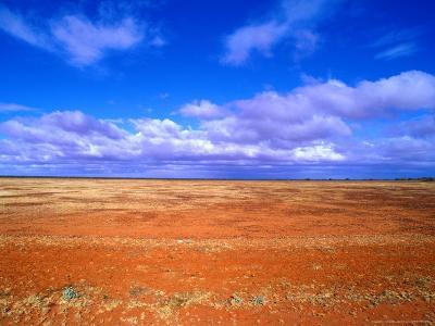 Barren Landscape on Desert Highway, Australia