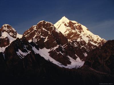 Mountain Peak with Snow, Puno, Vilcanota, Cuzco, Peru