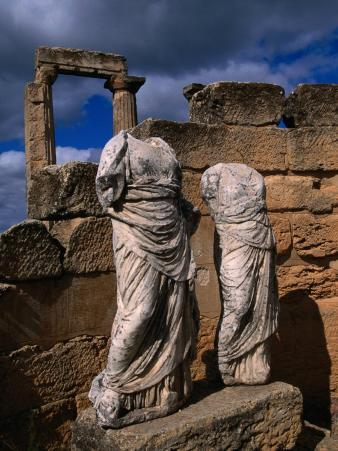 Statues of the Two Goddesses Demeter and Persephone, Cyrene, Darnah, Libya