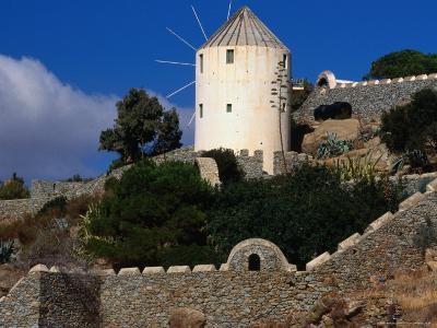 Stone Staircase to Windmill, Mykonos Town, Greece