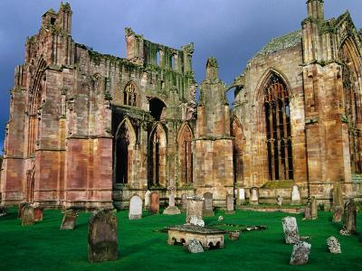 Melrose Abbey Was Founded in 1131 by David I & the Cistercian Monks from France, Melrose, Scotland