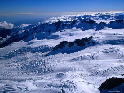 Pioneer Ridge with Fox Glacier and Albert Glacier Westland National Park, Fox Glacier, New Zealand