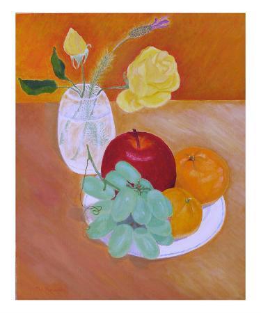 Roses & Grapes, Apple, Tangerines