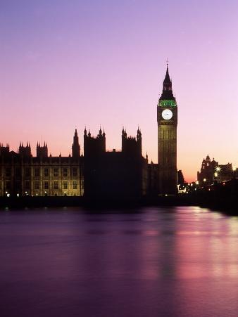 Big Ben at Dusk in London, England