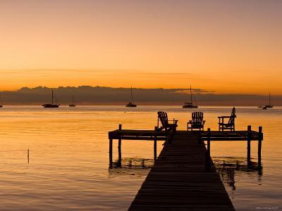 Jetty at Sunset, Caye Caulker, Belize