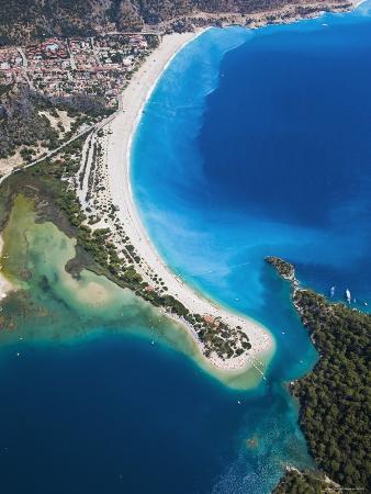 Blue Lagoon and Belcekiz Beach, Oludeniz, Near Fethiye, Mediterranean Coast, Turkey
