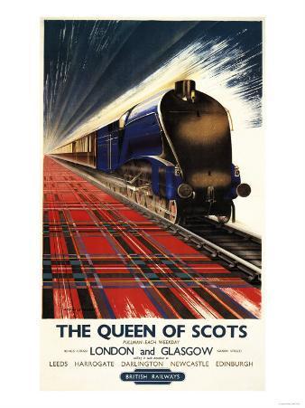 Great Britain - Queen of Scots Pullman Train British Railways Poster