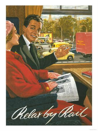 Great Britain - British Railways Relax by Rail Poster