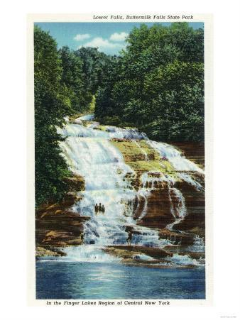 Ithaca, New York - Buttermilk Farms State Park Lower Falls View