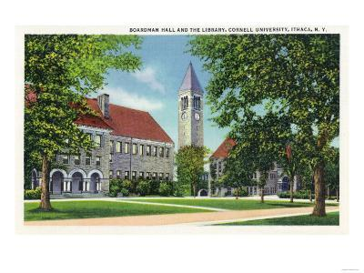 Ithaca, New York - Exterior View of Boardman Hall and the Library