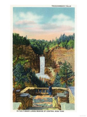 Ithaca, New York - View of Taughannock Falls No. 2