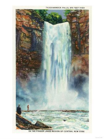 Ithaca, New York - View of Taughannock Falls from the Bottom