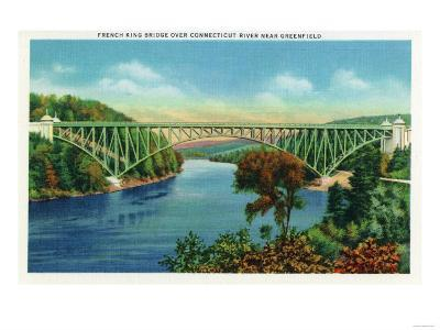 Greenfield, Massachusetts - View of French King Bridge over Connecticut River