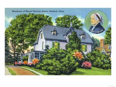 Hartford, Connecticut - Exterior View of Harriet Beecher Stowe's Residence