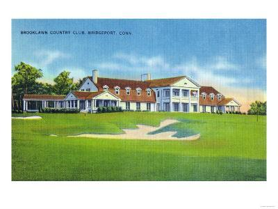 Bridgeport, Connecticut - Exterior View of the Brooklawn Country Club