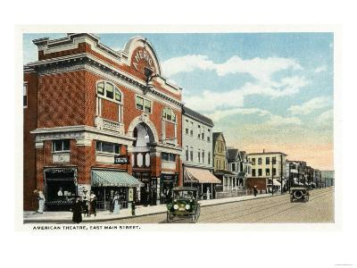 Bridgeport, Connecticut - East Main Street View of the American Theatre