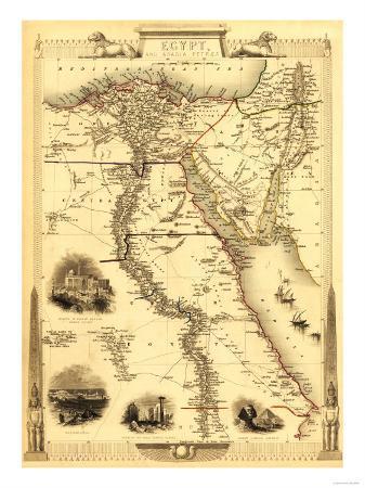 Egypt and Arabia - Panoramic Map