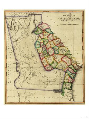 Georgia - Panoramic Map