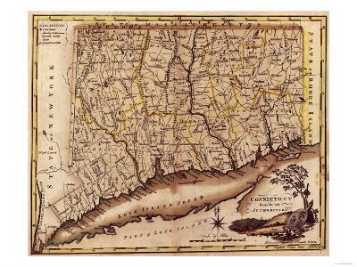 Connecticut - Panoramic Map
