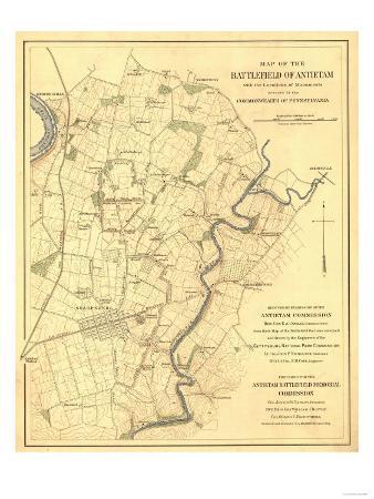 Battle of Antietam - Civil War Panoramic Map - Antietam, MD