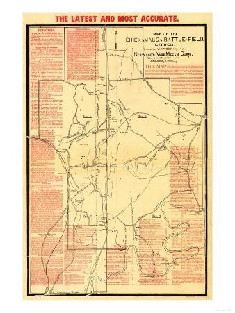 Battle of Chickamauga - Civil War Panoramic Map