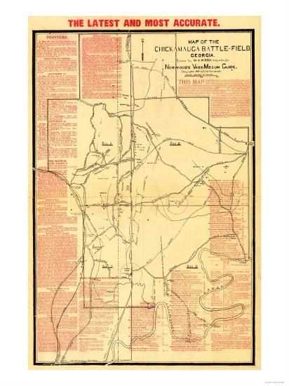 Battle Of Chickamauga Civil War Panoramic Map Art By Lantern Press