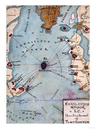 Battle of Fort Sumter - Civil War Panoramic Map