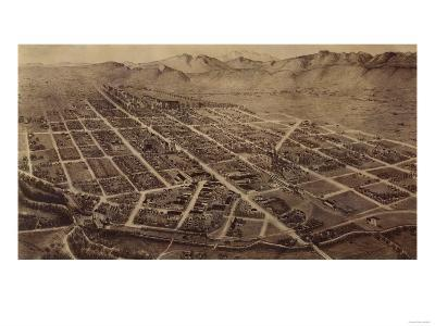 Colorado - Panoramic Map of Fort Collins No. 2