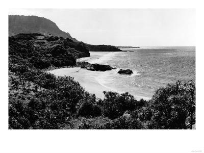 Kauai, Hawaii - View of Lumahai Bay & Beach Photograph