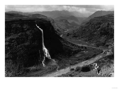 Kauai, Hawaii - View of Hanapepe Valley Photograph