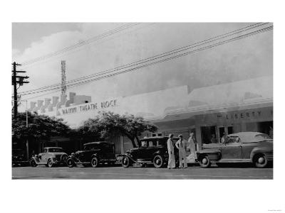 Hawaii - View of the Waikiki Theater Block Photograph